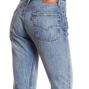 Levi's 501 White Oak Distressed Blue Jeans 169